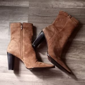 Nine West High Ankle/ Low Calf Suede Boots